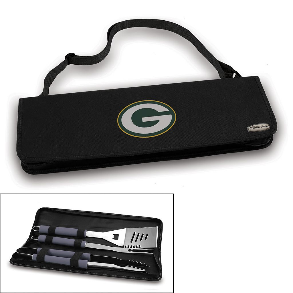 Picnic Time Green Bay Packers Metro 4-pc. Barbecue Tote Set