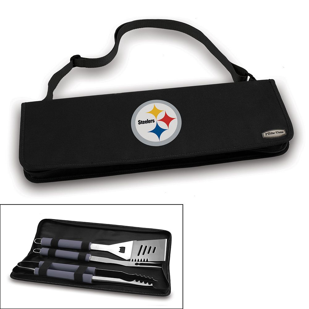 Picnic Time Pittsburgh Steelers Metro 4-pc. Barbecue Tote Set