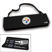 Picnic Time Pittsburgh Steelers Metro 4 pc Barbecue Tote Set