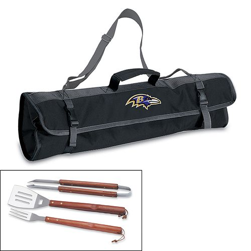 Picnic Time Baltimore Ravens 4-pc. Barbecue Tote Set