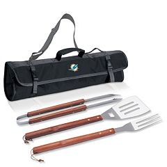 Picnic Time Miami Dolphins 4 pc Barbecue Tote Set