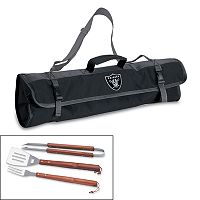 Picnic Time Oakland Raiders 4 pc Barbecue Tote Set
