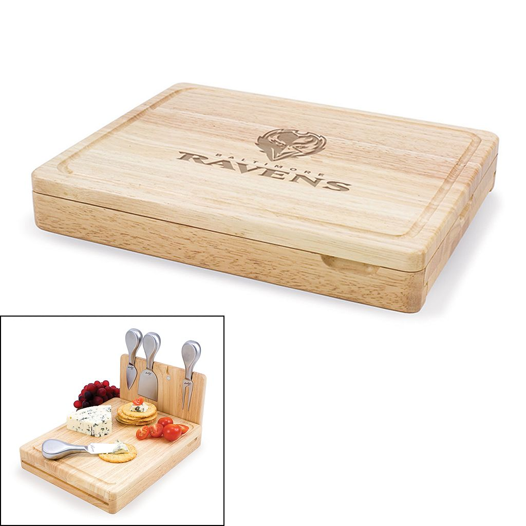 Picnic Time Baltimore Ravens Asiago 5-pc. Cheese Board Set