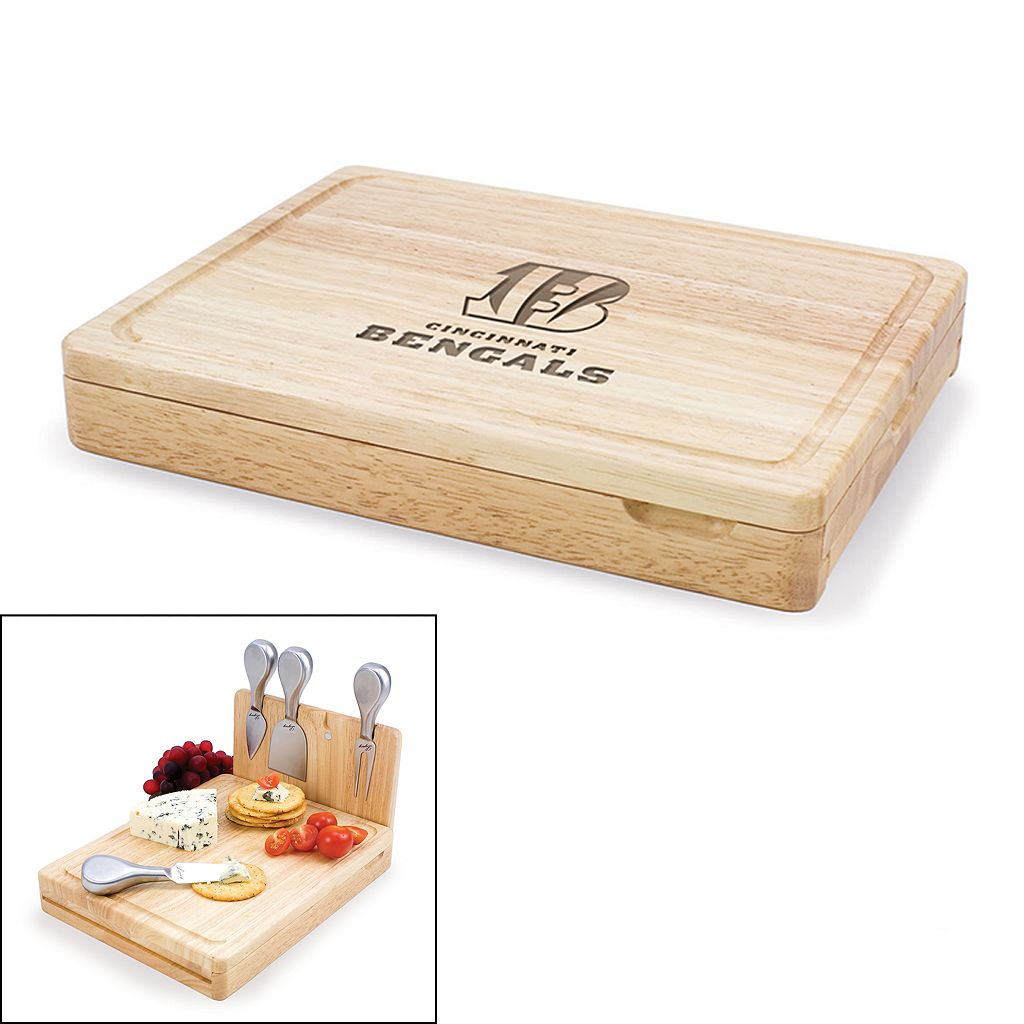 Picnic Time Cincinnati Bengals Asiago 5-pc. Cheese Board Set