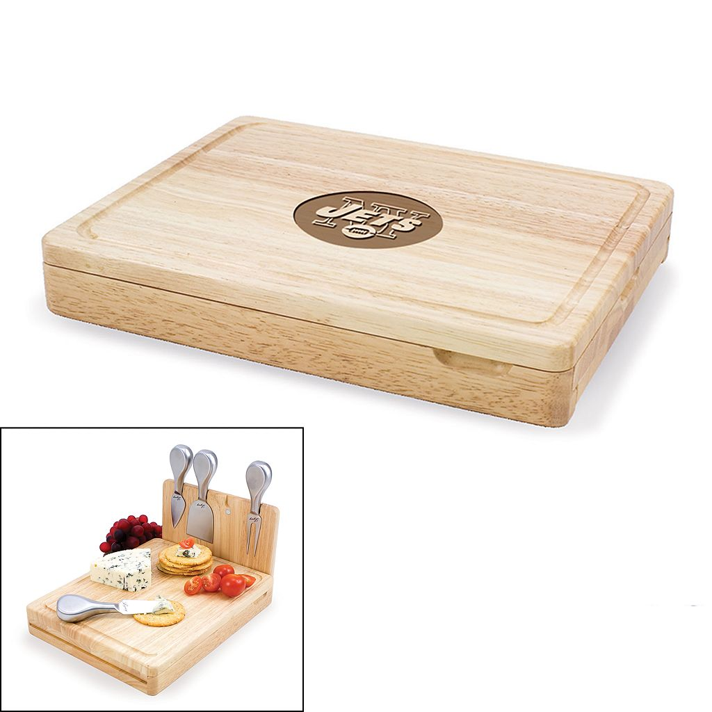 Picnic Time New York Jets Asiago 5-pc. Cheese Board Set
