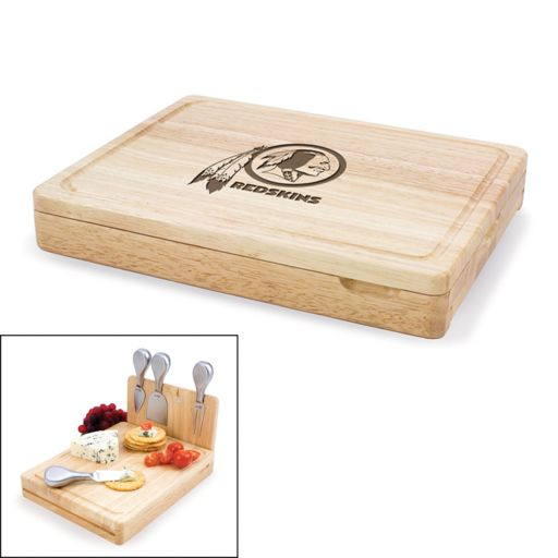 Picnic Time Washington Redskins Asiago 5-pc. Cheese Board Set