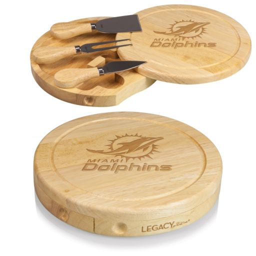 Picnic Time Miami Dolphins Brie Cheese Board Set