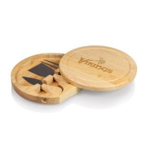 Picnic Time Minnesota Vikings Brie Cheese Board Set