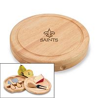 Picnic Time New Orleans Saints Brie Cheese Board Set