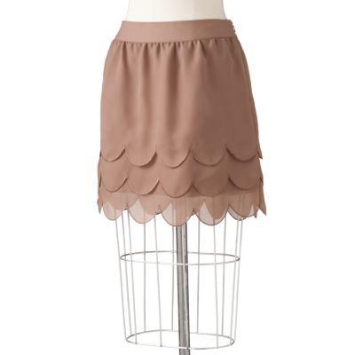 ELLE Tiered Georgette Skirt
