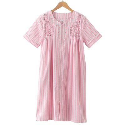 Croft and Barrow A Beautiful Morning Striped Duster Robe - Women's Plus
