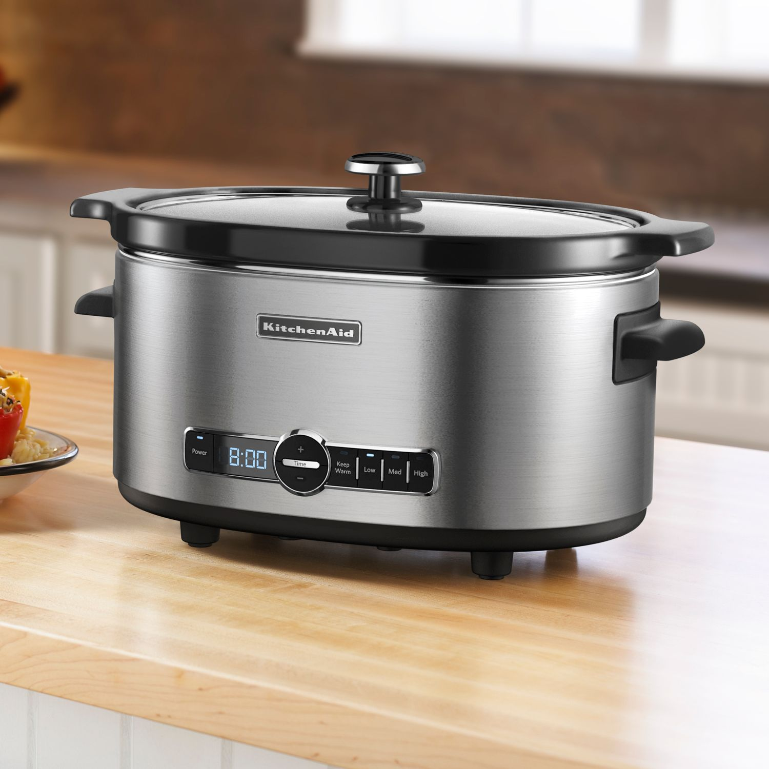 KitchenAid KSC6223SX 6 Qt. Stainless Steel Oval Slow Cooker