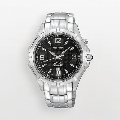 Seiko Coutura Stainless Steel Perpetual Calendar Watch - SNQ123 - Men