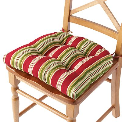 Croft and Barrow Striped Outdoor Chair Pad