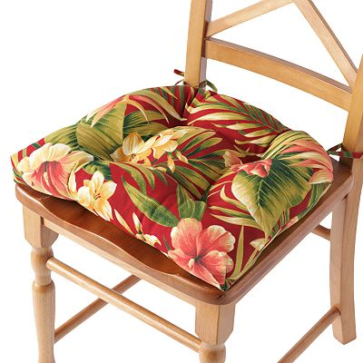 Croft and Barrow Floral Outdoor Chair Pad