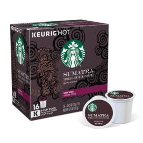 Keurig® K-Cup® Pod Starbucks Sumatra Dark Roast Coffee - 16-pk.