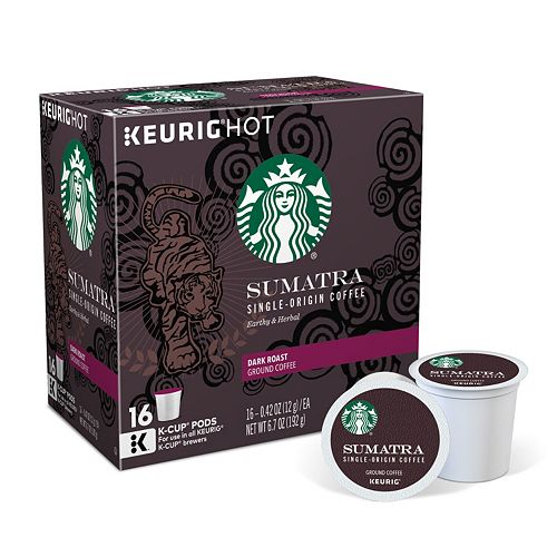 Starbucks Sumatra Coffee, Keurig® K-Cup® Pods, Dark Roast - 16-pk.