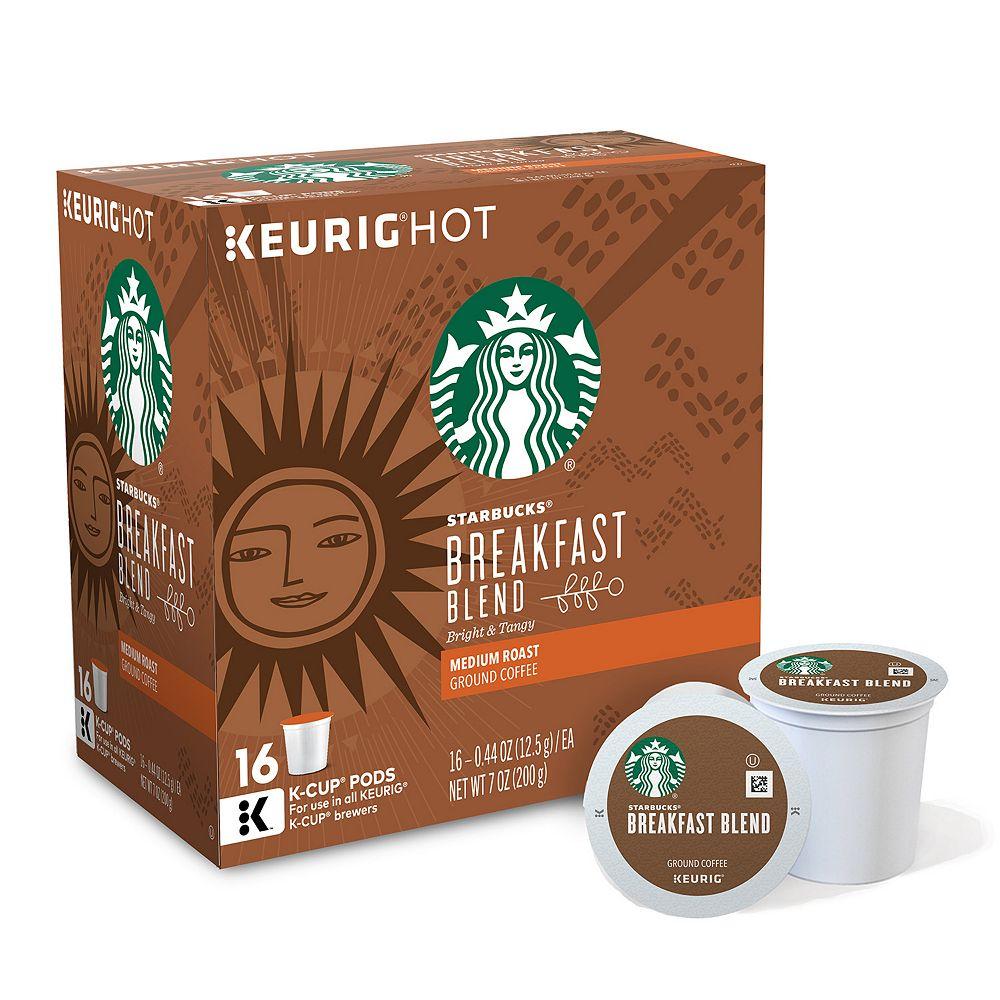 Starbucks Breakfast Blend Coffee, Keurig® K-Cup® Pods, Medium Roast - 16-pk.