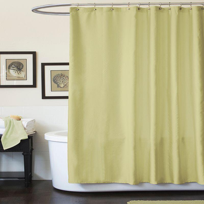 Lush Decor Channel Fabric Shower Curtain