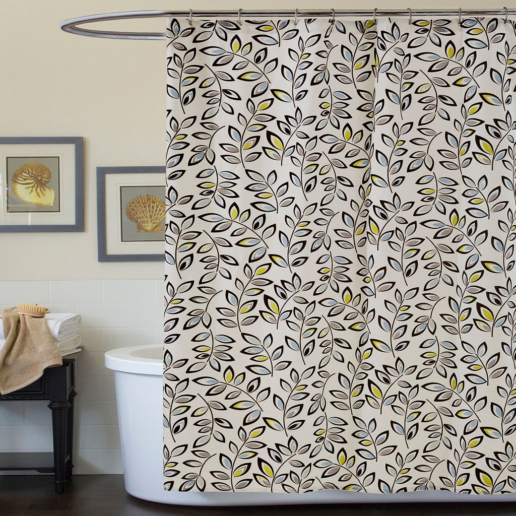 Lush Decor Ventura Fabric Shower Curtain