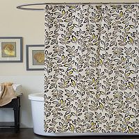 Lush Decor Ventura Fabric Shower Curtain