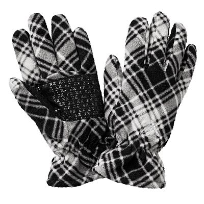 ZeroXposur Mabbel Plaid Fleece Gloves