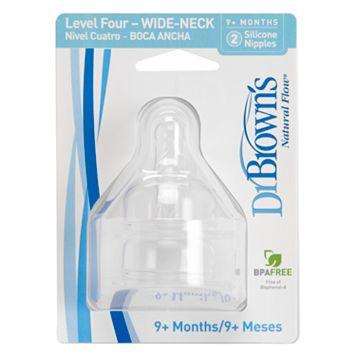 Dr. Brown's Natural Flow 2-pk. Level 4 Wide-Neck Nipples