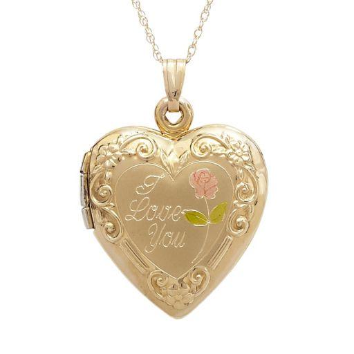14k Gold I Love You Heart Locket