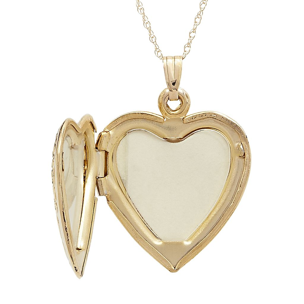 14k Gold I Love You Heart Locket