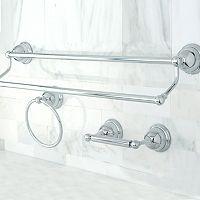 Kingston Brass 3-pc. Chrome Finish Double Towel Bar Set