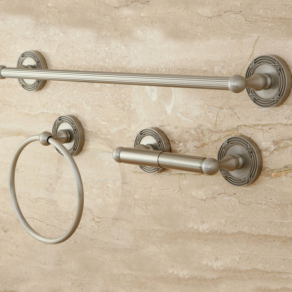 Kingston Brass Georgian 3-pc. Towel Bar Set