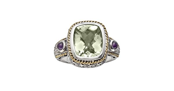 Diamond Rings For Sale Kohls: 14k Gold Over Silver And Sterling Silver Green Quartz And
