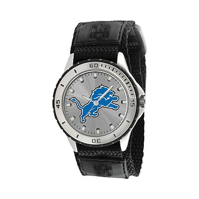 Game Time Veteran Series Detroit Lions Silver Tone Watch - NFL-VET-DET