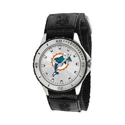 Game Time Veteran Series Miami Dolphins Silver Tone Watch - NFL-VET-MIA