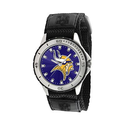 Game Time Veteran Series Minnesota Vikings Silver Tone Watch - NFL-VET-MIN