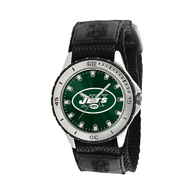 Game Time Veteran Series New York Jets Silver Tone Watch - NFL-VET-NYJ