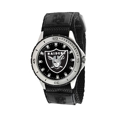 Game Time Veteran Series Oakland Raiders Silver Tone Watch - NFL-VET-OAK