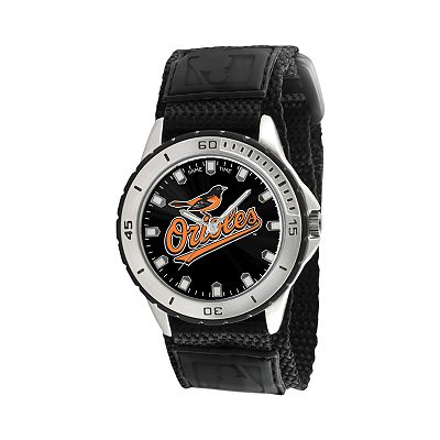 Game Time Veteran Series Baltimore Orioles Silver Tone Watch - MLB-VET-BAL