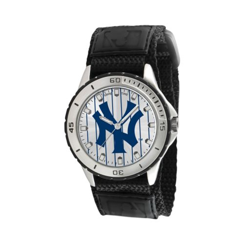 Game Time Veteran Series New York Yankees Silver Tone Watch - MLB-VET-NY3