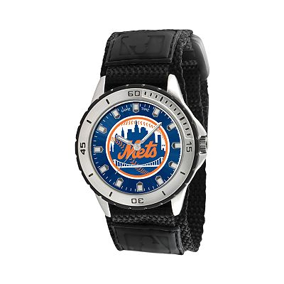 Game Time Veteran Series New York Mets Silver Tone Watch - MLB-VET-NYM