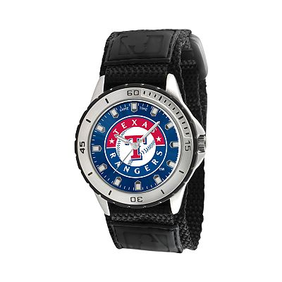 Game Time Veteran Series Texas Rangers Silver Tone Watch - MLB-VET-TEX