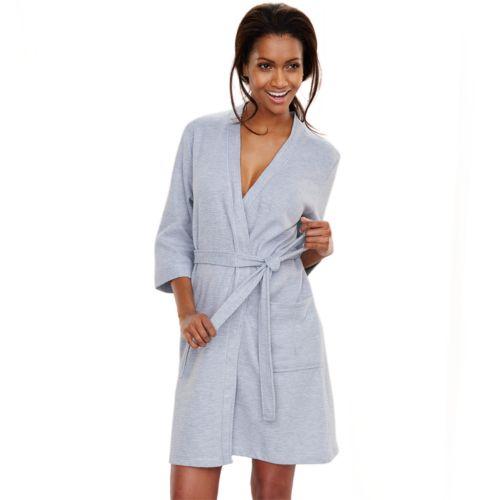 Croft & Barrow® Waffle-Knit Kimono Robe - Women's