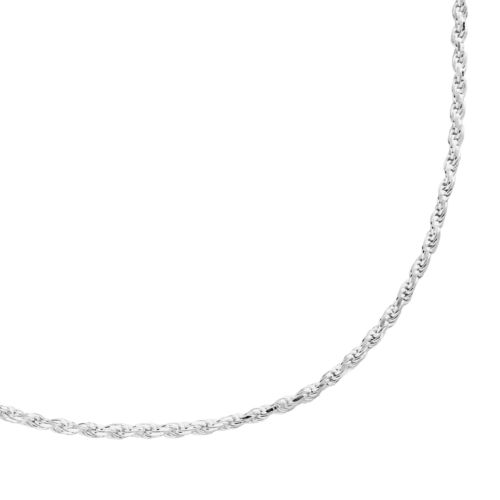 Sterling Silver Textured Rope Chain Necklace - 20-in.