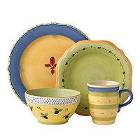 Pfaltzgraff Pistoulet Blue 16 pc Dinnerware Set