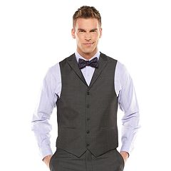 Men's Savile Row Sharkskin Gray Suit Vest