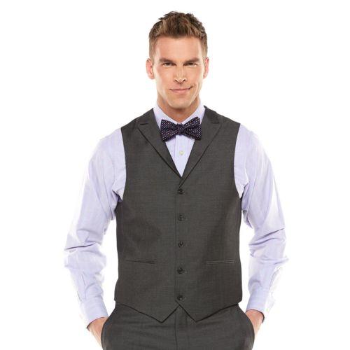 Savile Row Sharkskin Gray Suit Vest