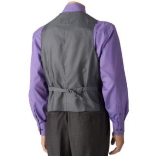 Men's Savile Row Sharkskin Gray Suit Vest