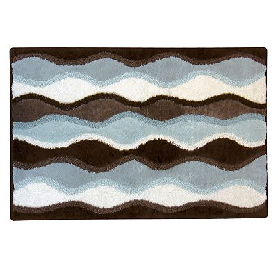 Ultra Spa Magic Plush Ripple Bath Rug - 20 x 30