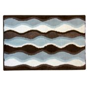 Ultra Spa Magic Plush Ripple Bath Rug - 24 x 40