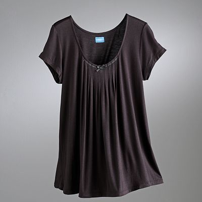 Simply Vera Vera Wang Basic Luxury Pleated Pajama Top